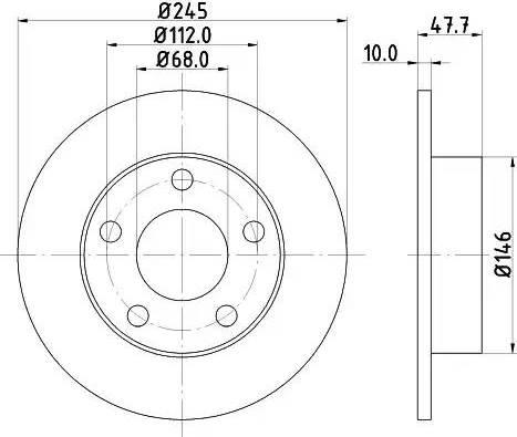 Mintex MDC831 - Bremžu diski interparts.lv