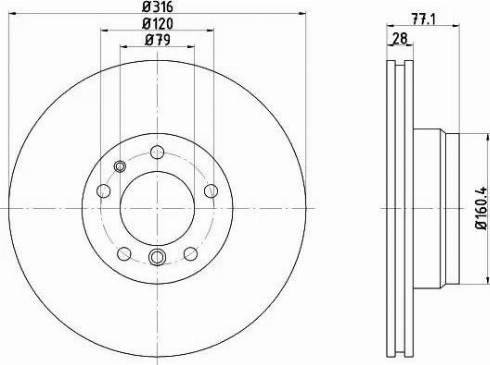 Mintex MDC832 - Bremžu diski interparts.lv
