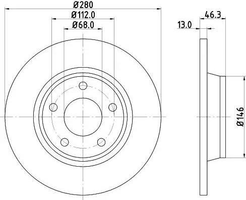 Mintex MDC829 - Bremžu diski interparts.lv