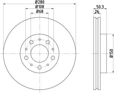 Mintex MDC825 - Bremžu diski interparts.lv