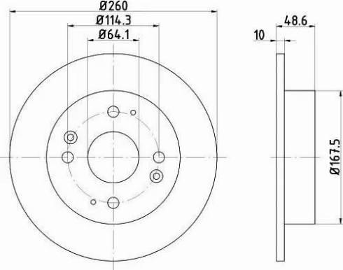 Mintex MDC820 - Bremžu diski interparts.lv