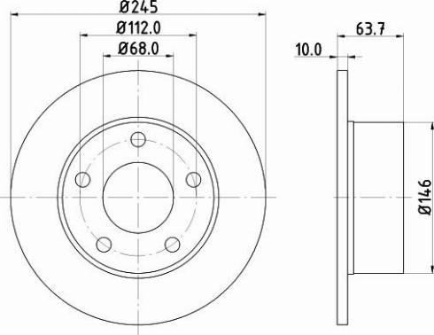 Mintex MDC828C - Bremžu diski interparts.lv