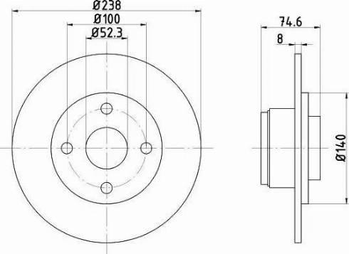 Mintex MDC874 - Bremžu diski interparts.lv