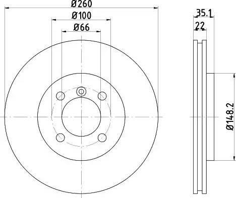 Mintex MDC391 - Bremžu diski interparts.lv