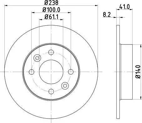 Mintex MDC364 - Bremžu diski interparts.lv