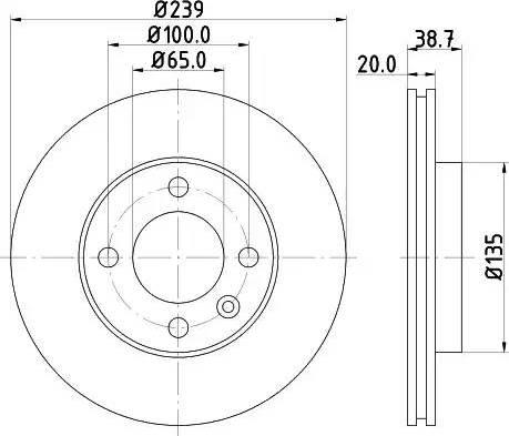 Mintex MDC365 - Bremžu diski interparts.lv