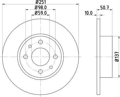 Mintex MDC389 - Bremžu diski interparts.lv