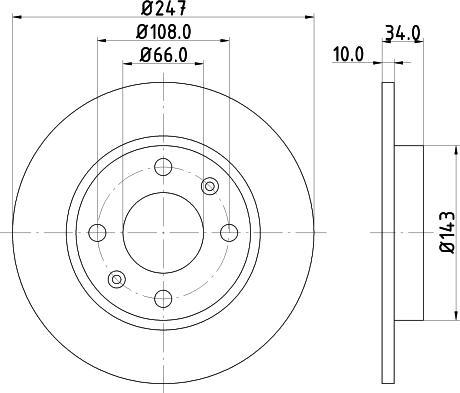 Mintex MDC293C - Bremžu diski interparts.lv