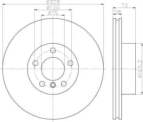 Mintex MDC2549 - Bremžu diski interparts.lv