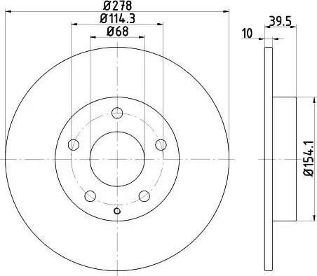 Mintex MDC2518 - Bremžu diski interparts.lv
