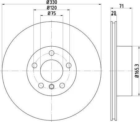 Mintex MDC2532 - Bremžu diski interparts.lv