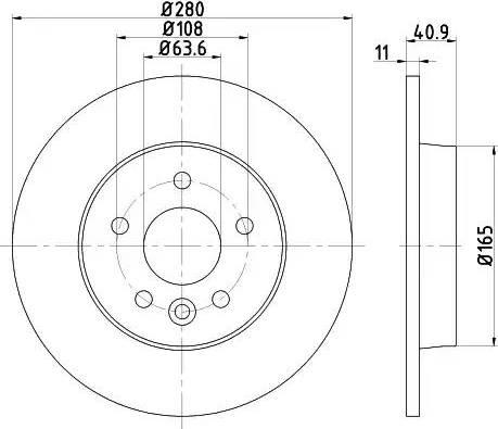 Mintex MDC2529 - Bremžu diski interparts.lv