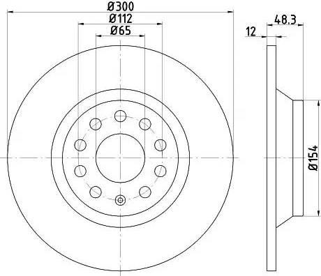 Mintex MDC2527 - Bremžu diski interparts.lv