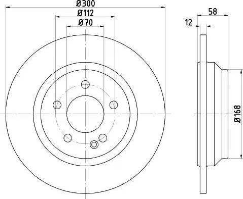 Mintex MDC2658 - Bremžu diski interparts.lv