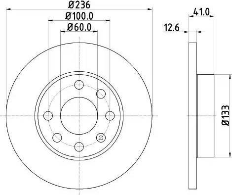 Mintex MDC266 - Bremžu diski interparts.lv