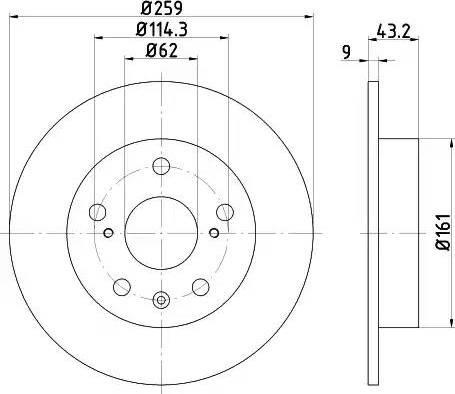Mintex MDC2612 - Bremžu diski interparts.lv