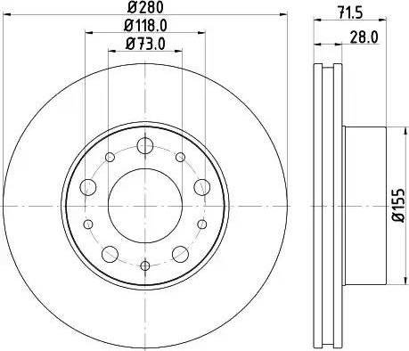 Mintex MDC2685 - Bremžu diski interparts.lv