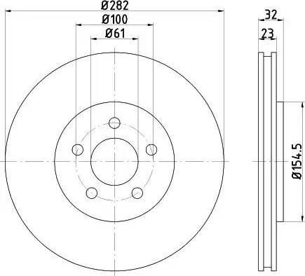 Mintex MDC2621 - Bremžu diski interparts.lv