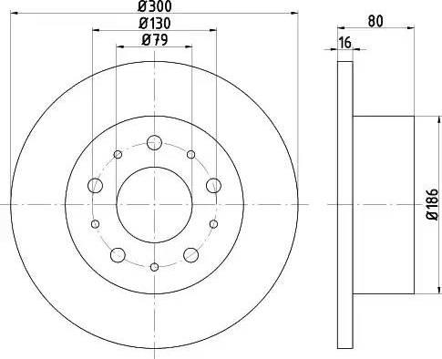 Mintex MDC2058 - Bremžu diski interparts.lv