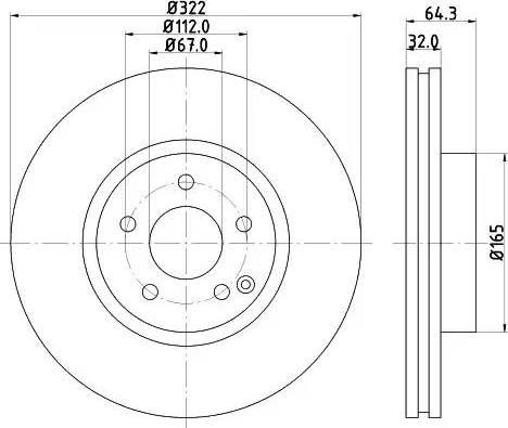 Mintex MDC2052 - Bremžu diski interparts.lv