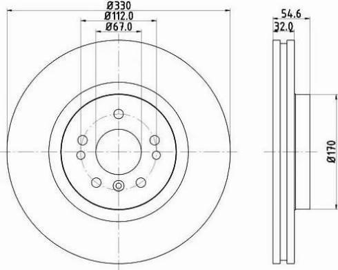 Mintex MDC2068 - Bremžu diski interparts.lv
