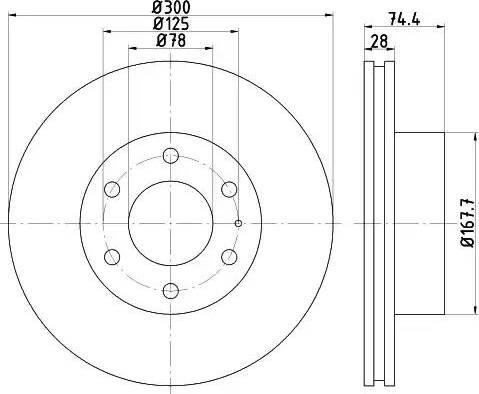 Mintex MDC2009 - Bremžu diski interparts.lv