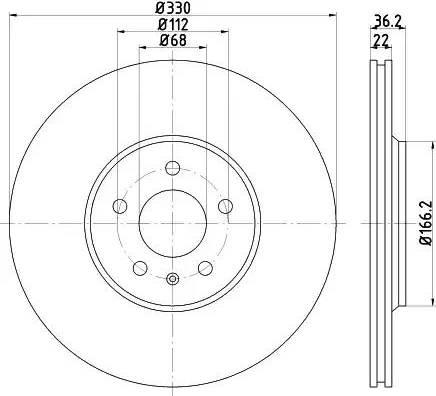 Mintex MDC2004 - Bremžu diski interparts.lv