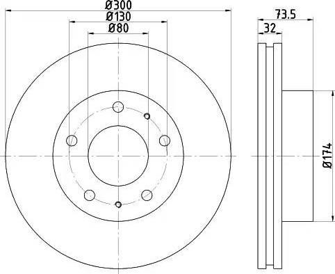 Mintex MDC2006 - Bremžu diski interparts.lv