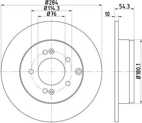 Mintex MDC2013 - Bremžu diski interparts.lv