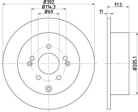 Mintex MDC2012 - Bremžu diski interparts.lv