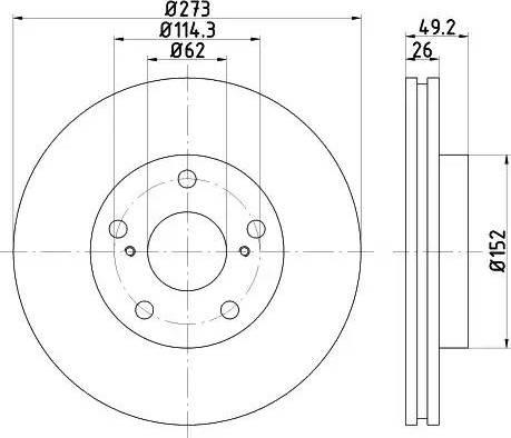 Mintex MDC2017 - Bremžu diski interparts.lv