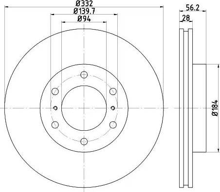 Mintex MDC2039 - Bremžu diski interparts.lv