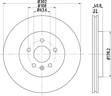 Mintex MDC2034 - Bremžu diski interparts.lv