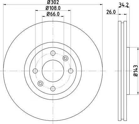 Mintex MDC2032 - Bremžu diski interparts.lv