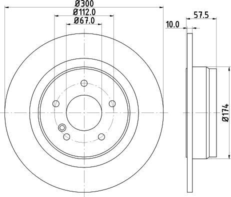 Mintex MDC2025C - Bremžu diski interparts.lv
