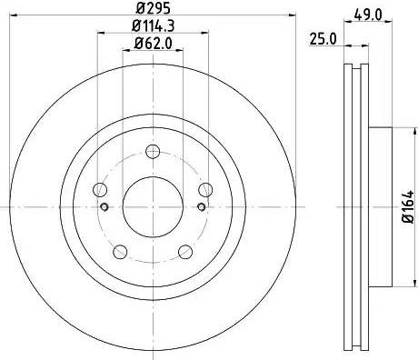 Mintex MDC2028 - Bremžu diski interparts.lv