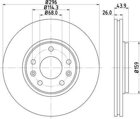 Mintex MDC2196 - Bremžu diski interparts.lv