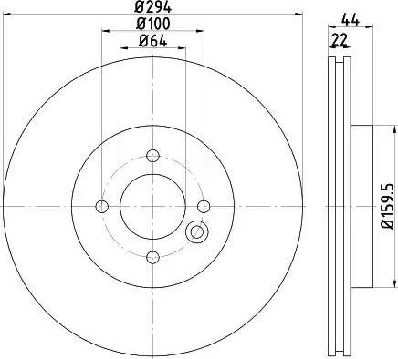 Mintex MDC2197 - Bremžu diski interparts.lv