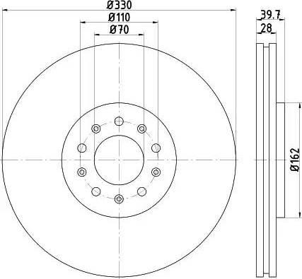 Mintex MDC2158 - Bremžu diski interparts.lv