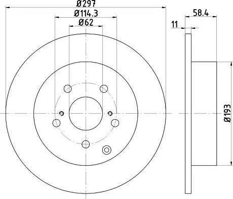 Mintex MDC2183 - Bremžu diski interparts.lv