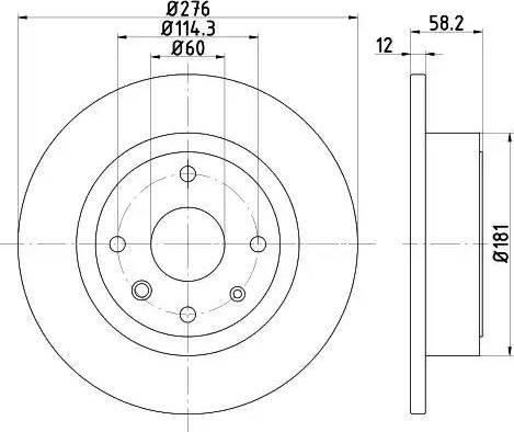 Mintex MDC2135 - Bremžu diski interparts.lv