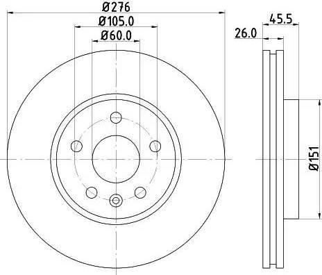 Mintex MDC2131 - Bremžu diski interparts.lv