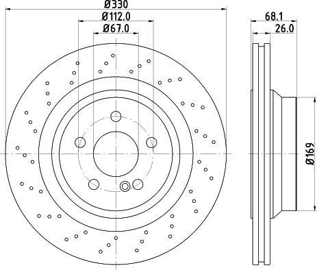 Mintex MDC2801C - Bremžu diski interparts.lv