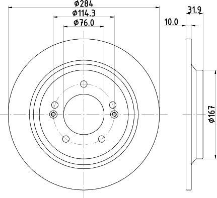 Mintex MDC2815C - Bremžu diski interparts.lv