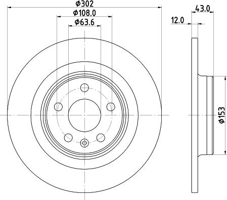 Mintex MDC2838C - Bremžu diski interparts.lv