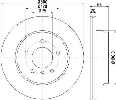 Mintex MDC2356 - Bremžu diski interparts.lv