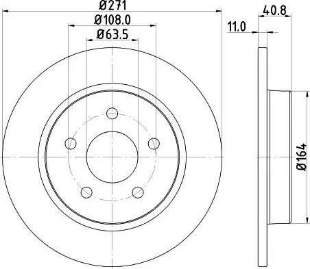 Mintex MDC2358 - Bremžu diski interparts.lv