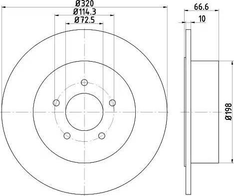 Mintex MDC2311 - Bremžu diski interparts.lv