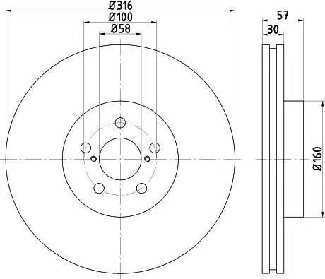 Mintex MDC2339 - Bremžu diski interparts.lv