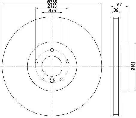 Mintex MDC2330 - Bremžu diski interparts.lv